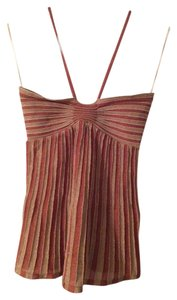 Missoni Halter Glitter Knit Brown / Tan / Gold Halter Top