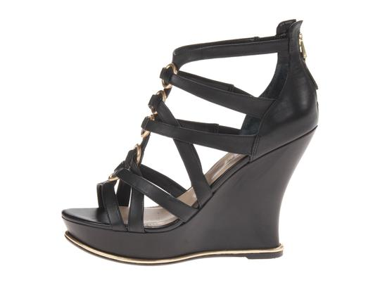 Guess Hand Painted Artisan Black Wedges Image 9