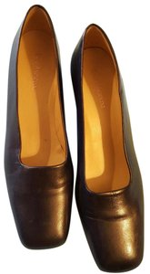 Enzo Angiolini Leather Upper Black Pumps