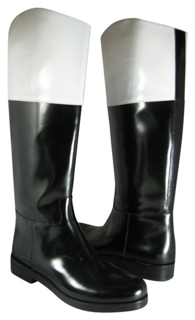 Item - Black/ White Riding Boots/Booties Size US 8 Regular (M, B)