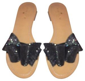 Kate Spade Brown with sparkly black bow Sandals