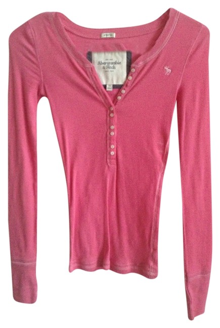 Preload https://item5.tradesy.com/images/abercrombie-and-fitch-pink-buttons-tee-shirt-size-0-xs-2013729-0-0.jpg?width=400&height=650