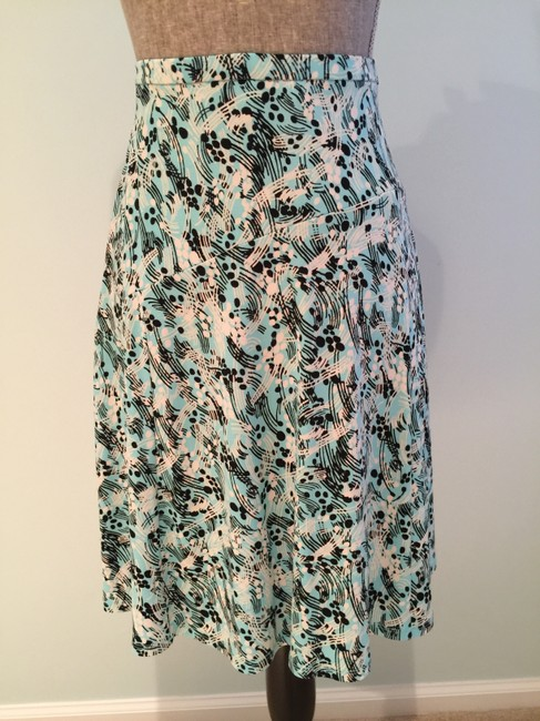 Other Summer Size Small Size 6 Flair Skirt Aqua/White/Black Image 5