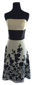 White House | Black Market Silk Floral Strapless Dress