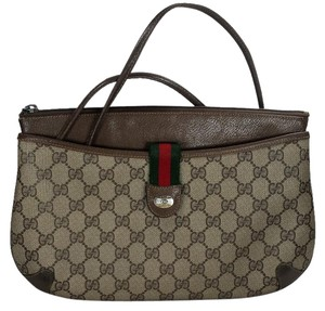 Gucci Monogram Leather Vintage Cross Body Bag