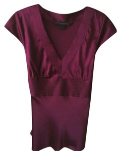 Express Tie Back Silk Top Wine