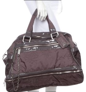 Stella McCartney Carry-on Quilted Overnight Plum Travel Bag