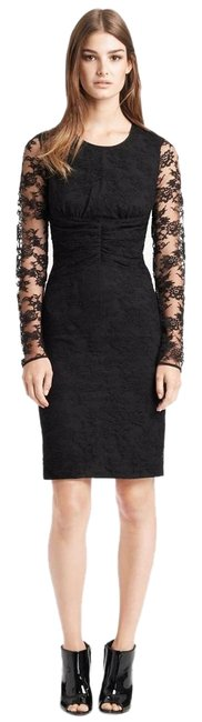 Burberry London Black Long Sleeve Lace Above Knee Cocktail Dress Size 10 (M) Burberry London Black Long Sleeve Lace Above Knee Cocktail Dress Size 10 (M) Image 1