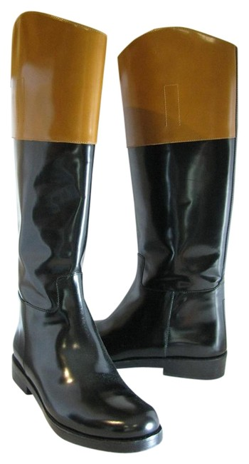 Item - Black/ Brown Blanche New Runway Black/ Pull-on Riding Boots/Booties Size US 9.5 Regular (M, B)