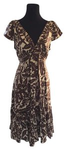 BCBGMAXAZRIA Silk Floral Print Dress