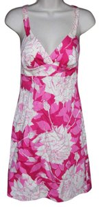 Trina Turk short dress Pinks & off-white Floral Adjustable Straps on Tradesy