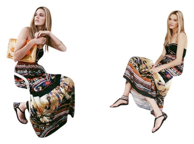 Maxi Dress by LF Maxi Cut-out Strapless Summer Print