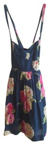 Abercrombie & Fitch short dress Navy blue Floral Summer Cotton Sweetheart on Tradesy
