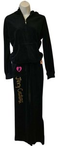 Juicy Couture Pink Heart Terrier Juicy Couture Black Velour Track Suit