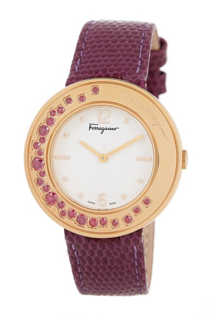 Salvatore Ferragamo Purple Ff5930015 Gancino Swiss Quartz Watch Salvatore Ferragamo Purple Ff5930015 Gancino Swiss Quartz Watch Image 1