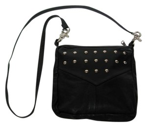 Casual Freedom Purse Black Silver Brads Shoulder Cross Body Bag