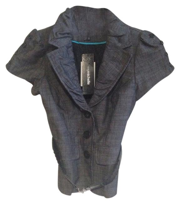 Preload https://item3.tradesy.com/images/my-michelle-grey-buttons-belt-belted-blazer-size-4-s-2013797-0-0.jpg?width=400&height=650