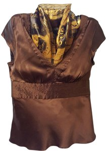 Express Cap Sleeves Stylish Top Brown