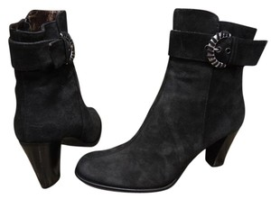 Aquatalia by Marvin K. Leather Ankle Suede black Boots