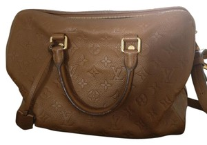 Louis Vuitton Speedy 30 Empreinte Speedy Satchel in Brown