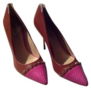 A.B.S. by Allen Schwartz Brown/Hot Pink Pumps