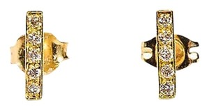 Jennifer Meyer Jewelry Jennifer Meyer Karat Yellow Gold Pave Diamond Bar Stud Earrings
