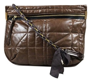 Lanvin Taupe Leather Cross Body Bag