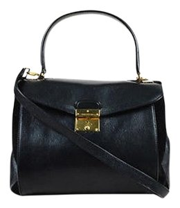 Marc Jacobs Leather Suede Gold Metropolitan Tote in Black