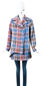 Sachin + Babi Blue Pink Wool Coat
