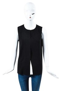 Vince White Jersey Knit Top Black