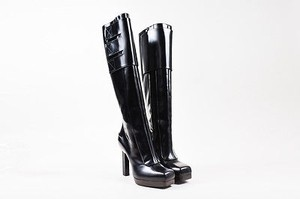 Lanvin Leather Tall Black Boots