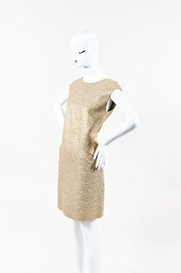 Michael Kors short dress Beige Metallic on Tradesy