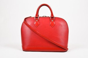 Louis Vuitton Epi Leather Alma Pm Handbag Satchel in Red