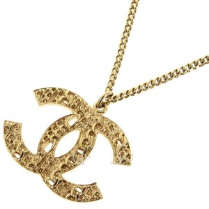Chanel 100 Anniversary Gold Interlocking CC Cutout Baroque Pendant 14C