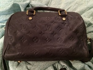 Louis Vuitton Speedy 25 Speedy Bandouliere Speedy Empreinte Empreinte Monogram Empreinte Satchel in Purple
