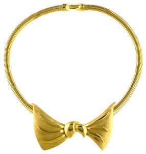 Trifari 1970s Bow Collar Necklace