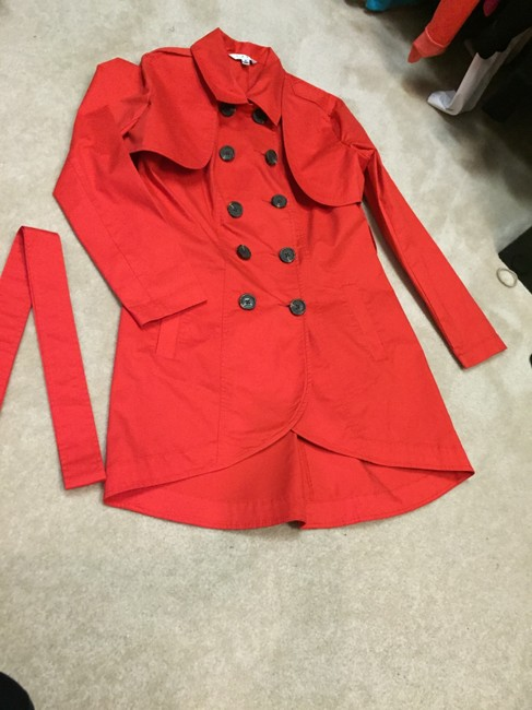 Item - Red Convertible 3 In Jacket Size 6 (S)