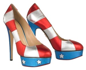 Charlotte Olympia Red White and Blue Platforms