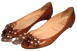 Christian Louboutin Brown Flats