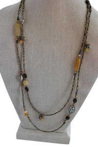 Silpada Silpada Beaded and Sterling Silver long necklace N1928