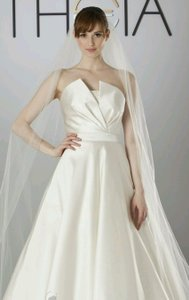 Theia Carrie Strapless Full Skirt Wedding Dress