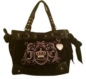 Juicy Couture Daydreamer Handbag Leather/velour Jewels/studs Shoulder Bag