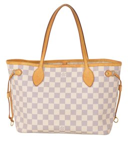 Louis Vuitton Lv Damier Azur Pm Damier Azur Tote in White Checker
