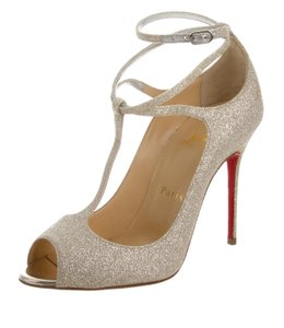 Christian Louboutin Metallic Hardware Gold Pumps