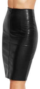 Vegan Leather Faux Leather Skirt Black
