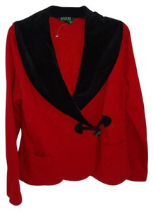 Lauren Ralph Lauren Faux Fur Collar Black Collar red Jacket