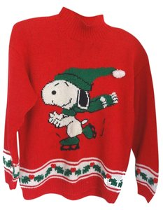 Marisa Christina Mock Neck Snoopy Sweater