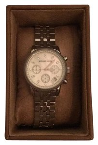 MICHAEL Michael Kors Pave Silver Watch