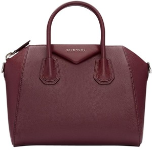 Givenchy Antigona Sugar Small Satchel in burgundy
