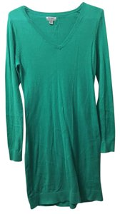 Old Navy short dress Jade Green Sweater Stripes on Tradesy